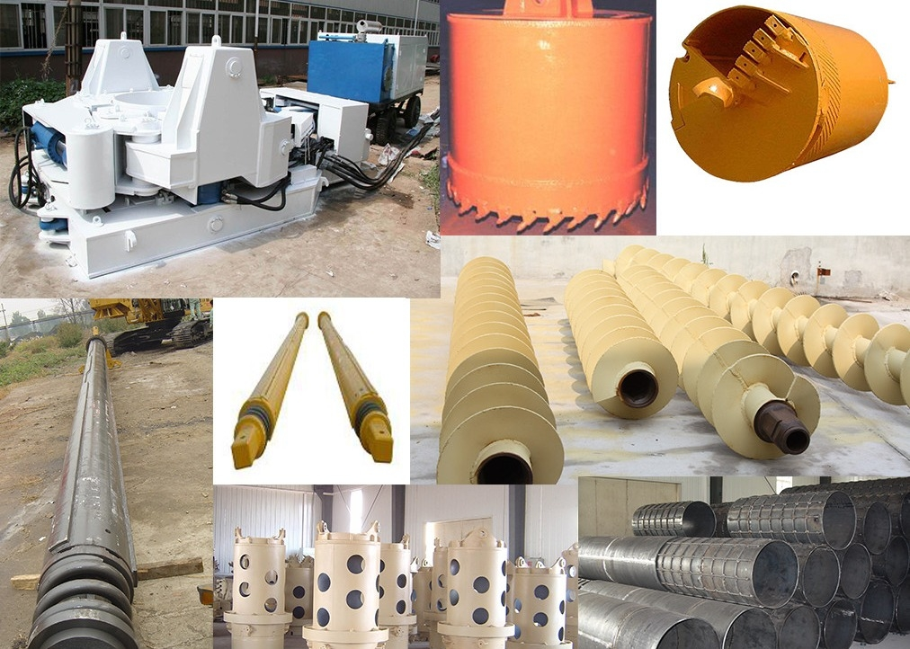Continuous Flight Auger Drilling Rig Accessories High Strength Good Performance