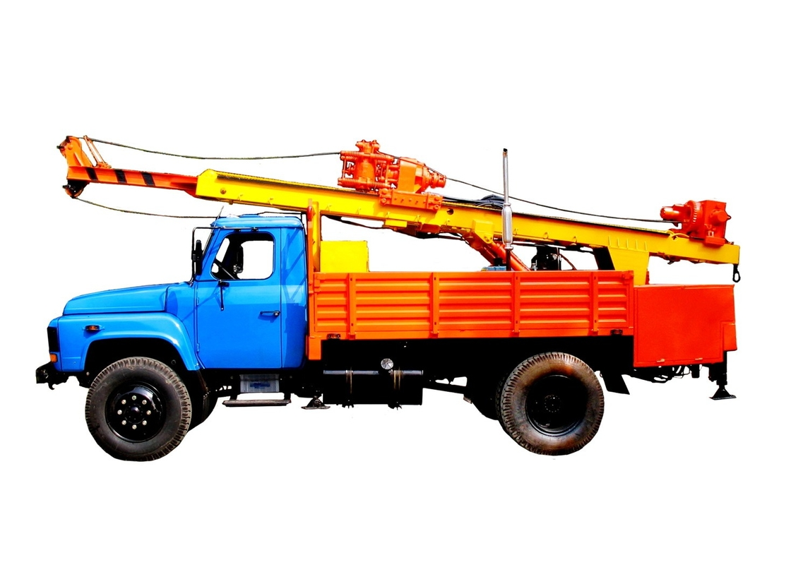 Diesel Engine Hole 300mm 105KW 2200rpm Mobile Drilling Rigs